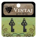 Vintaj Natural Brass Co. Jewelry Findings - Arte Metal Embossed Keys